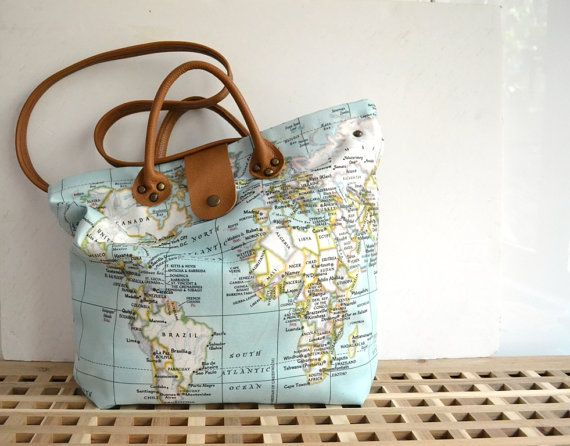 36 best world map bag collection by pagur design images on pinterest 15 bright mint bag mint world map bag leather canvas tote tan leather crossbody bag world map diaper bag handbag purse world ma gumiabroncs Images
