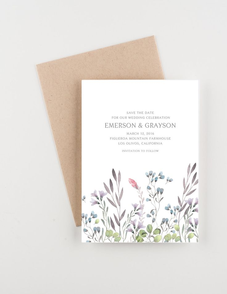 Farmhouse Wildflowers Save The Date Bridal Shower