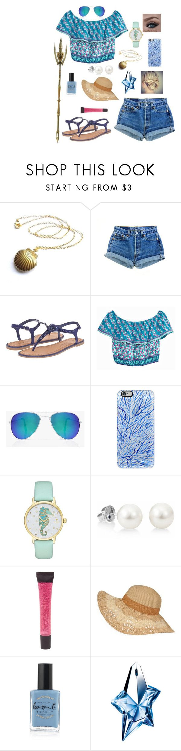 """Cabin 3: Poseidon"" by ruthw422 ❤ liked on Polyvore featuring Chinese Laundry, Calypso St. Barth, Boohoo, Casetify, Kate Spade, Lane Bryant, Lauren B. Beauty, Thierry Mugler, beach and percyjackson"