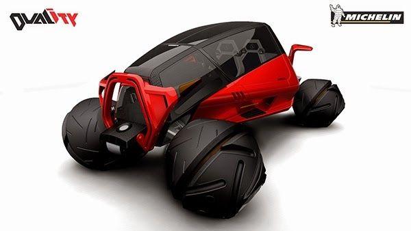 DUALITY diseño de vehículo híbrido entre todo terreno y coche de carreras