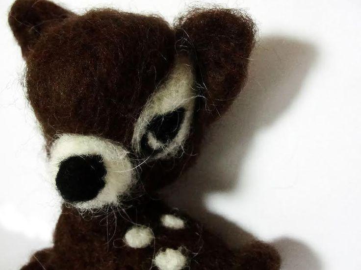 sweet Roe-deer  needle felted miniature beautiful animal toys  handmade #1 #nutka_art #AllOccasion