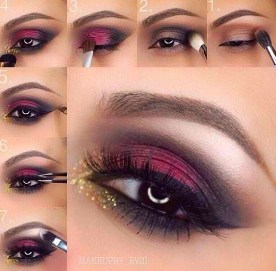 Red & Black Eye Makeup Inspiration