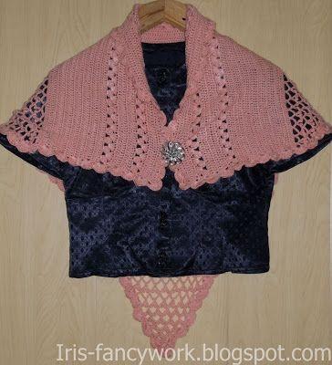 My Fancywork Blog: Маленькая накидка-шалька цвета увядшей розы связан...