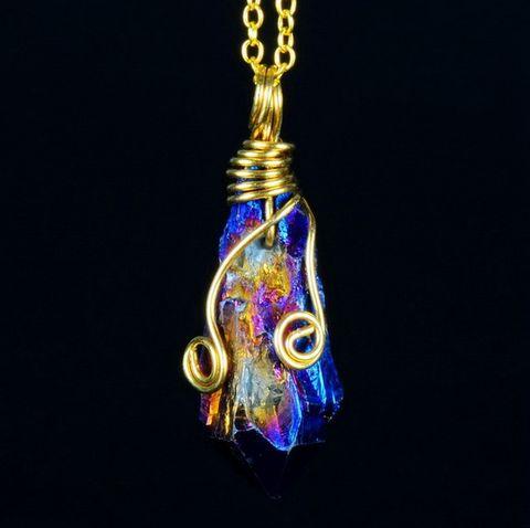 Natural Healing Rock Crystal Pendant Necklace