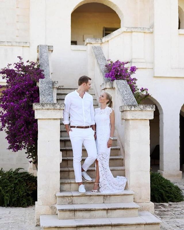 'Mr. and Mrs. Neuer Every single picture is beautiful!♥️ ---- Herr und Frau Neuer Jedes einzelne Bild ist Wunderschön!♥️ #nina#ninaneuer#manuel#manuelneuer#couple#couplegoals#goals#love#relationship#relationship#borgoegnazia#italy#wedding#married#whiteparty#mrandmrs#foreverlove' by @ninalovesmanu.  #bridesmaid #невеста #parties #catering #venues #entertainment #eventstyling #bridalmakeup #couture #bridalhair #bridalstyle #weddinghair #プレ花嫁 #bridalgown #brides #engagement #theknot #ido…