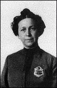 Alice Stebbins Wells (June 13, 1873 – August 17, 1957) was the first American-born female police officer in the United States, hired in 1910 in Los Angeles. Although other women had worked with the police (chiefly looking after female prisoners), Wells was the first to be sworn as an officer in her own right. She broke the dam and as a direct result of her example, several other cities and countries began hiring female police officers.