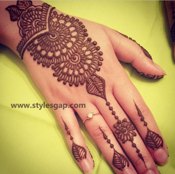 Simple & Easy Eid Mehndi Designs 2016-2017 Latest Collection  (24)