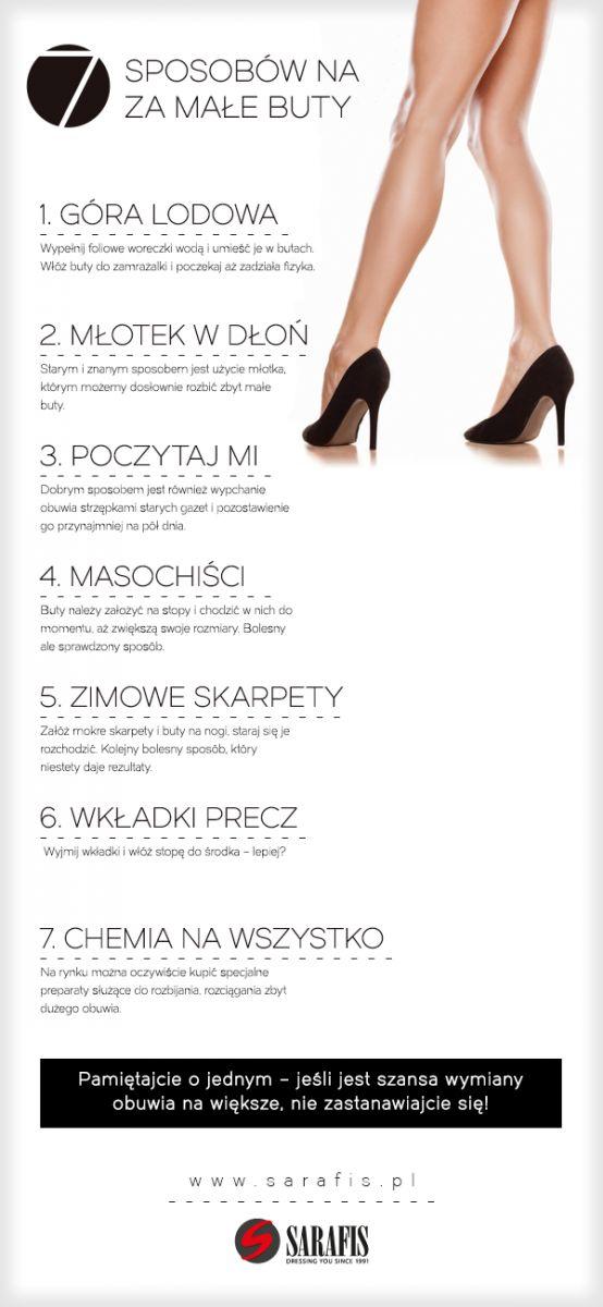 7 sposobów na za małe buty