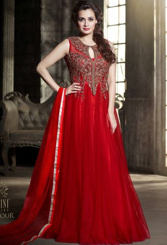 Red Net Designer Gown..@ fashionsbyindia.com #designs #indian #womens #style #cloths #stylish #casual #fashionsbyindia #punjabi #suits #wedding #chic #elegance #beauty #outfits #fantasy #embroidered #dress #PakistaniFashion #Fashion #Longsuit #FloralEmbroidery #Fashionista #Fashion2015 #IndianWear #WeddingWear #Bridesmaid #BridalWear #PartyWear #Occasion #OnlineShopping #Gown #diyamirza
