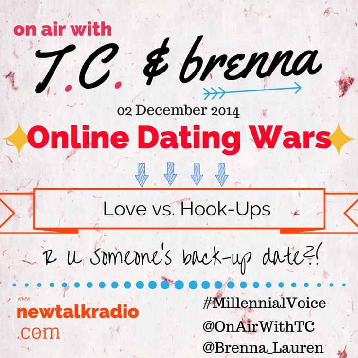 Online Dating Wars, Love vs Hook-Ups, and Are You Someone's Back-Up Date? These are all things you need to know . . . Listen Now at www.newtalkradio.com #love #relationships #advice #podcast