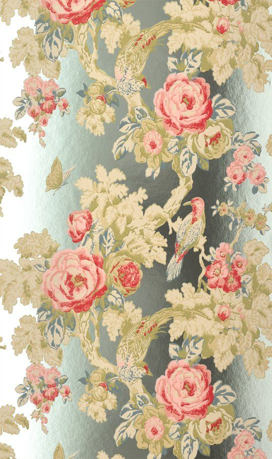 Anna French Wild Flora Bird In The Bush Wallpaper Foil …
