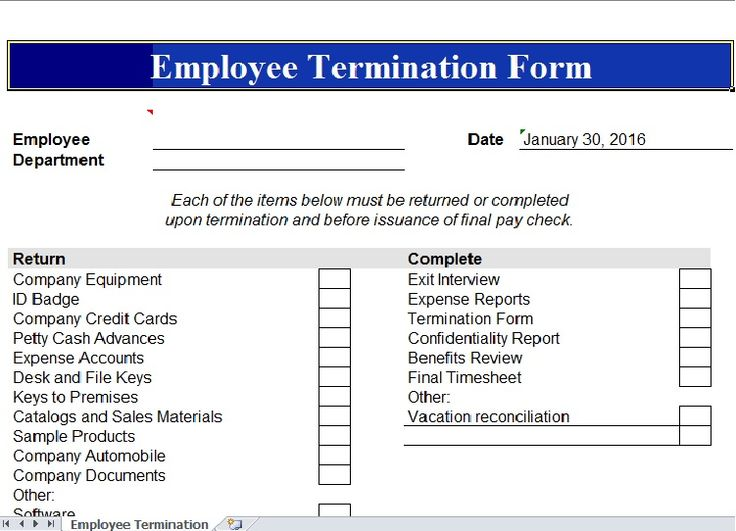 Employee Termination Template Excel Templates Pinterest Template - personal profit and loss statement template