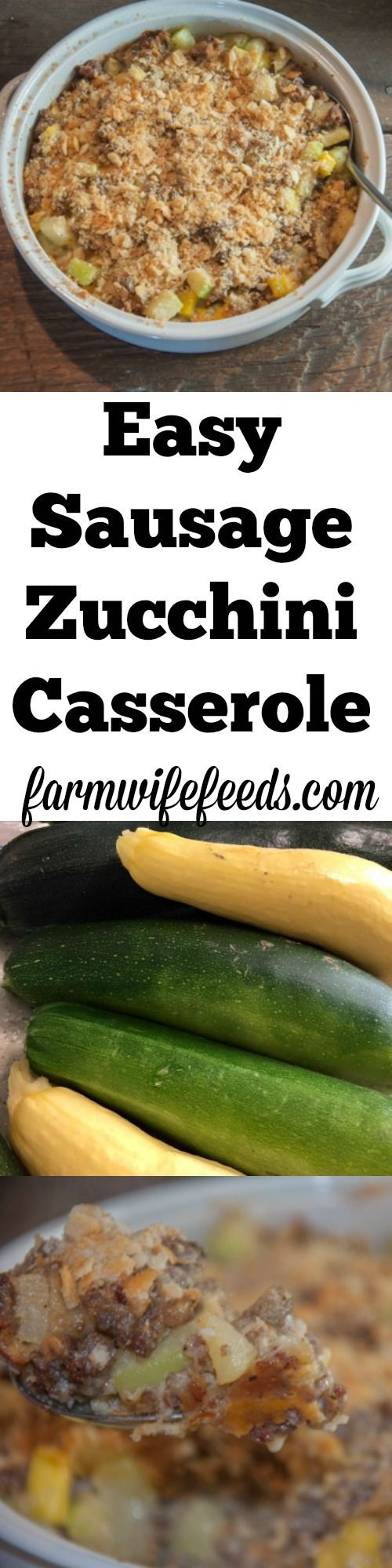 This Sausage Zucchini Casserole is the perfect recipe for the zucchini lover! An easy casserole that includes sausage and cheese!