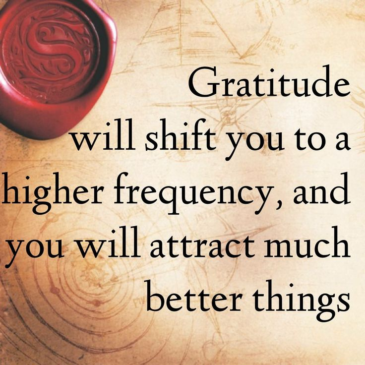 Gratitude will shift you to a higher frequency, and you will attract much better things.