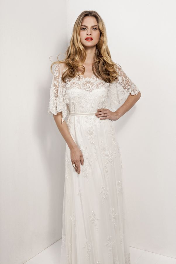 Anya Fleet lace wedding dress. #vintage #downton #edwardian