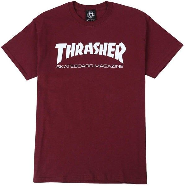 Thrasher Skate Mag T-Shirt ($20) ❤ liked on Polyvore featuring tops, t-shirts, shirts, screen print tees, graphic shirts, graphic tees, cotton t shirts and screen print shirts
