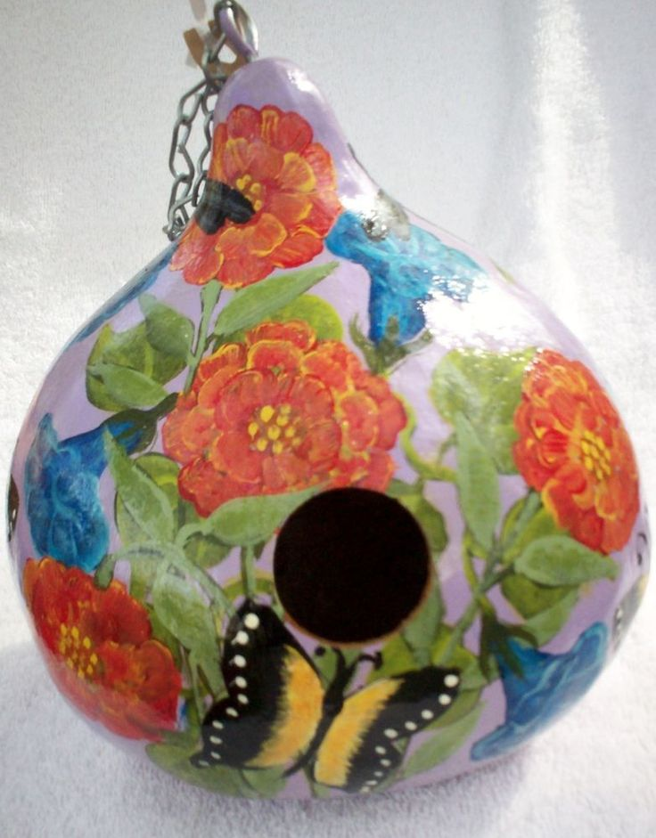 7a963ce47f62fe3e76a6494db41571d2--gourds-birdhouse-birdhouses Painted Gourd Bird Houses Design on painted snowman gourds, painted birdhouse gourds butterflies templates, painted pumpkin projects, gourds decorated butterfly design, painted bird houses designs ideas, painted birdhouses designs, painted chicken gourds, painted gourds country bird houses,