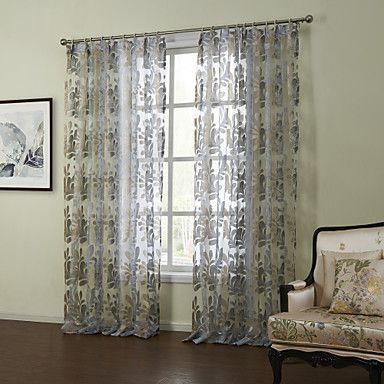 (Two Panels)Modern Fancy Classic Floral Sheer Curtain - USD $ 39.99