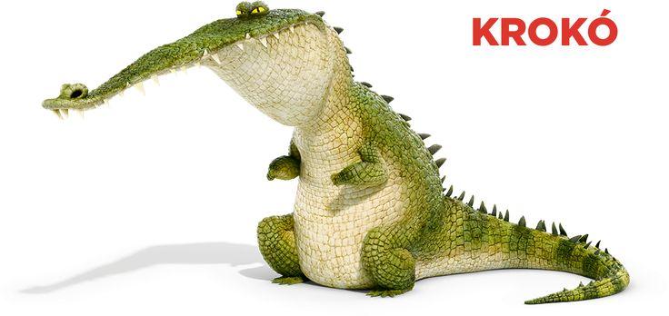 Krokó, a krokodil Hógolyó félelmetes verőlegénye. Senki sem juthat a gazdája közelébe az ő engedélye nélkül.