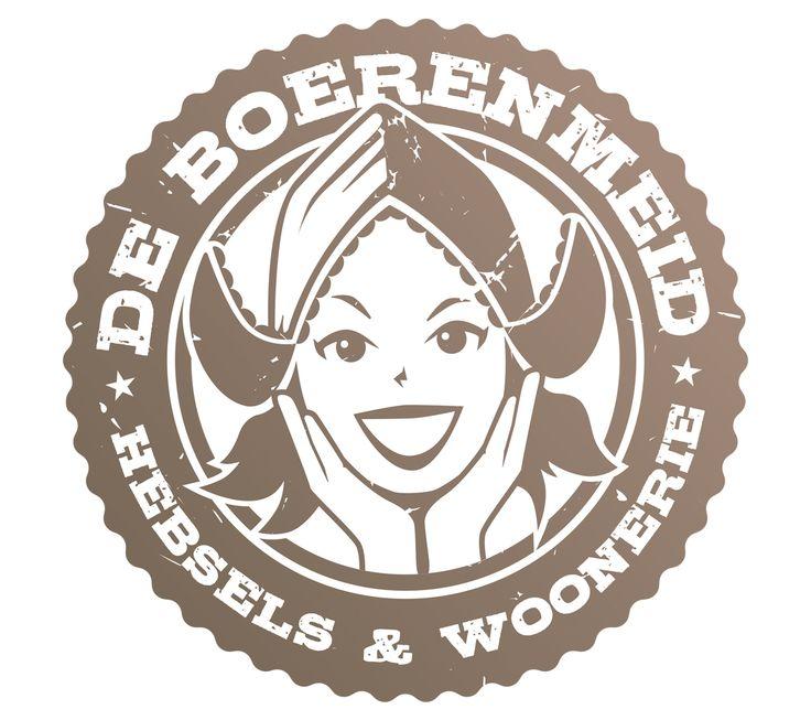 Logo Design voor De Boerenmeid, Hebsels & Woonerie