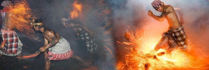 Bali Indonesia Holiday Travels: Siat Geni ( Fire War )