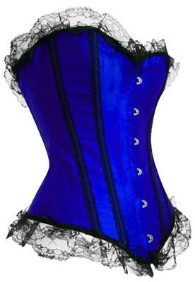 WOMENS LINGERIE UNDERWEAR 6012 LUXURY BLUE SATIN STRAPLESS BASQUE SIZES 10-14 | eBay