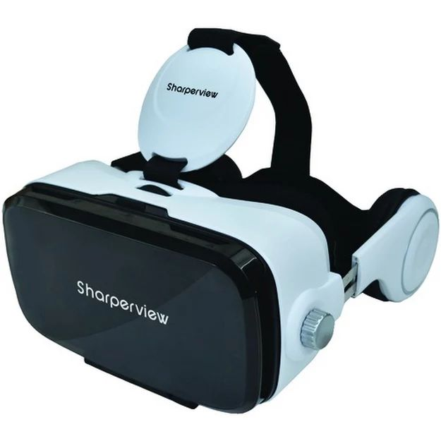 """Supersonic Virtual Reality Headset With Built-in Stereo Headphones http://ebay.to/2r1ZfIg  Fits iOS(TM) & Android(TM) cellular phones with 4"""" -6"""" touchscreens  Durable, lightweight design  Adjustable pupil distance & focal length  Cooling ventilation slots prevent smartphone from overheating  High-transmittance, nano-coating technology  Includes room for most eyeglasses Item #: RA45117"""