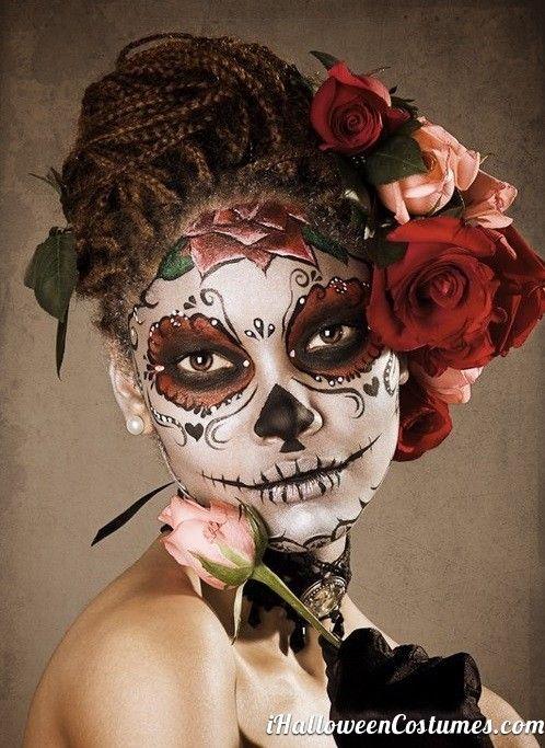 sugar skull makeup for Halloween - Halloween Costumes 2013