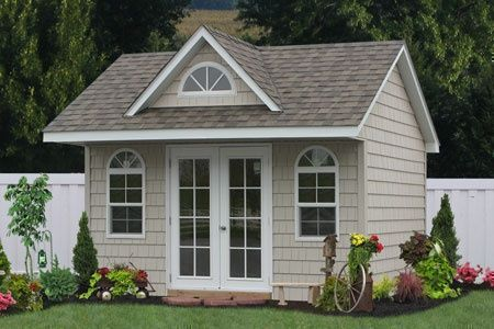 backyard office sheds for sale... this would be awesome for an office....if we have a 2nd little one.