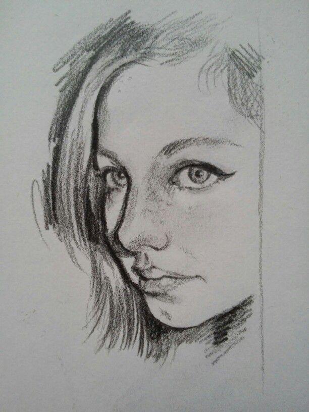 Matita, studio di volto. Nicola