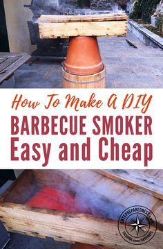 How To Make A DIY Barbecue Smoker Easy and Cheap - This barbecue smoker project is probably my favorite to date! If you have been following us for a while you may have noticed we have posted a few of these smoker projects over the years. I wanted to share this one because it uses other materials to add to the smoking process and flavorings. Images by paolobertoncin via instructables.com