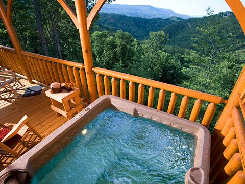 Honeymoon cabins in the Smoky Mountains of Tennessee.... OMG! I am dying.. i would so love this!