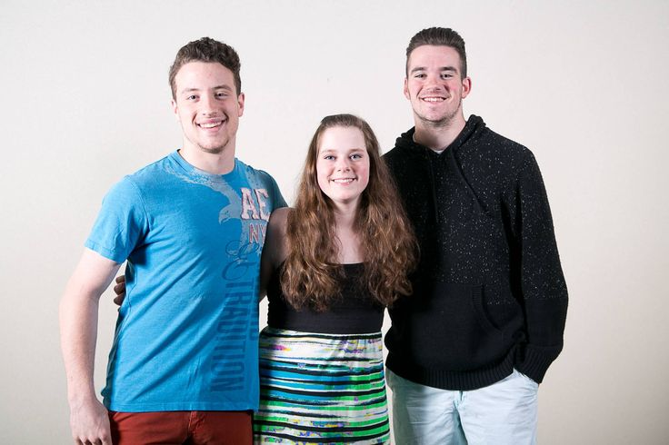 Triplets Mike, Marirose, and Nick Rueth, 17, of Glen Ellyn make up the band, Triptych.