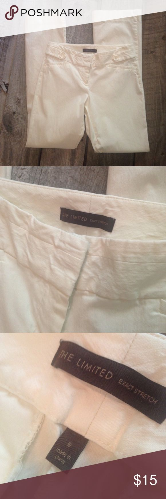 Cream pants The Limited cream pants. Exact stretch are their best brand. Smoke free home. Size 6. Pants Straight Leg