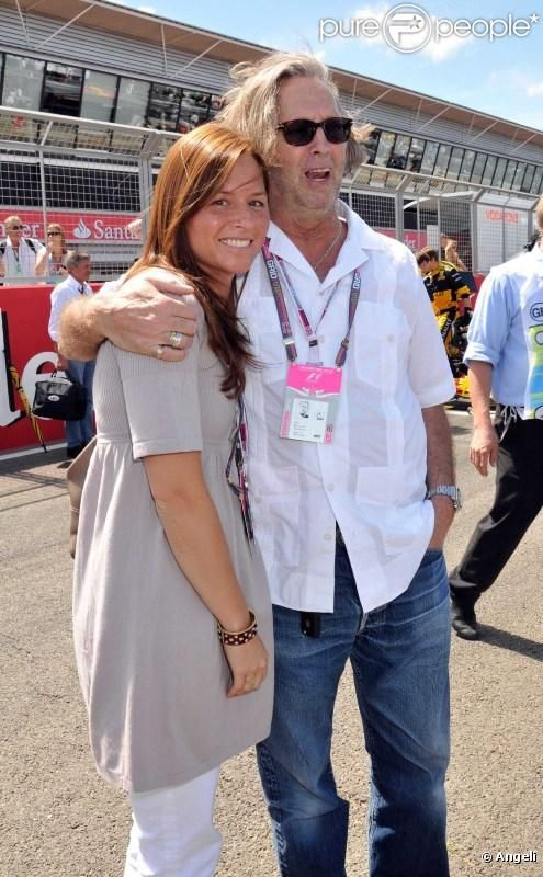 Melia Clapton And Daughters | Eric Clapton et son épouse Melia au Grand Prix de Silverstone, le 11 ...