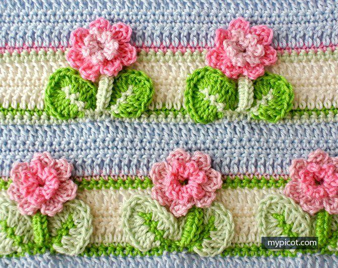 Kır Çiçekleri Örgü Modeli Battaniye Yapımı 26