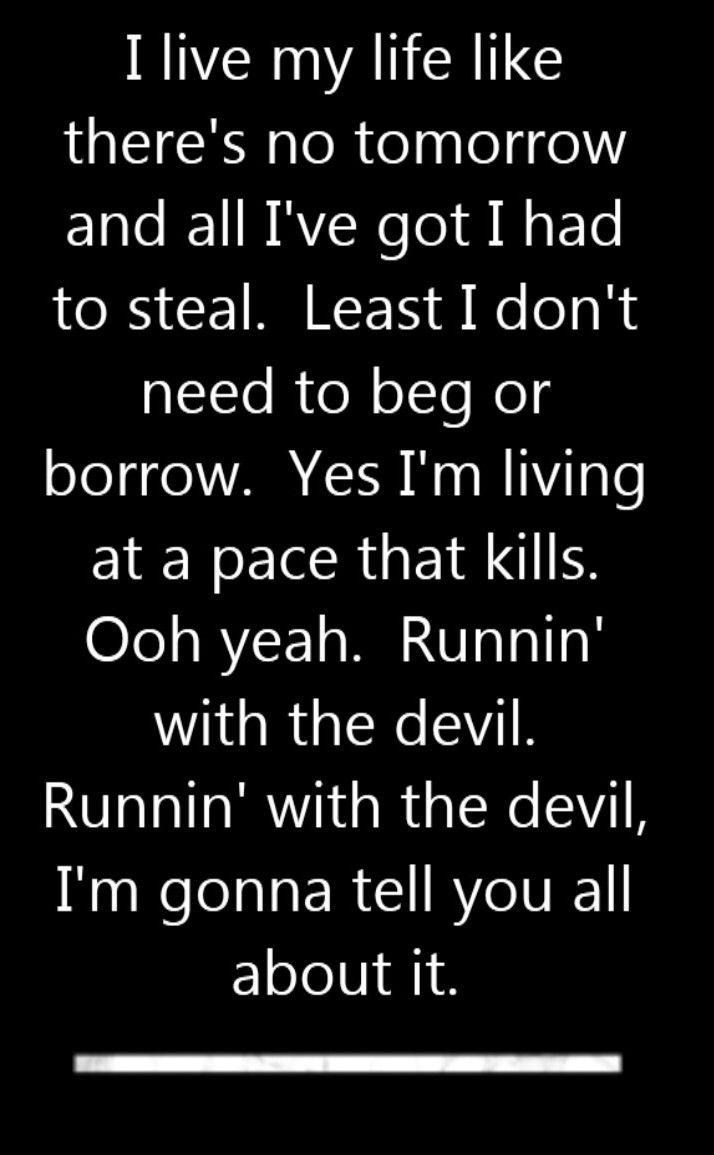 Best 25 van halen lyrics ideas on pinterest van halen 1 van van halen runnin with the devil song lyrics song quotes songs hexwebz Choice Image