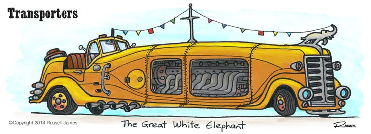 by Russell James - cardoodle - the Great White Elephant