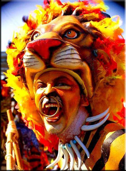 máscara de tigre, carnaval de Barranquilla