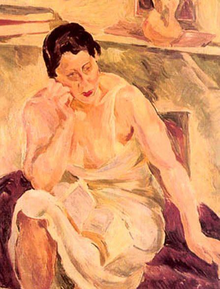 Mujer pensativa / Augusto Eguiluz