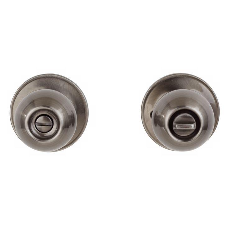 Corona Privacy Lock Antique Pewter Schlage Door Knob - Style # 25745