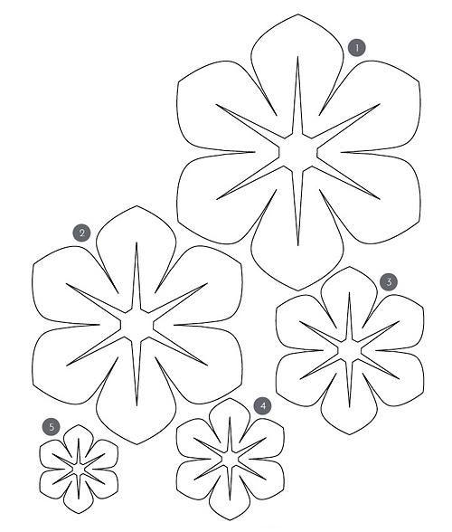 Шаблоны для цветочков