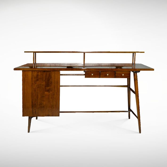 Architectural Desk by Paul McCobb | From a unique collection of antique and  modern desks and