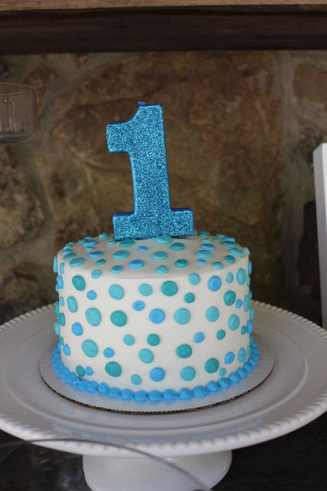 An adorabe 1st Birthday Cake for a little boy! See more party ideas and share yours at CatchMyParty.com