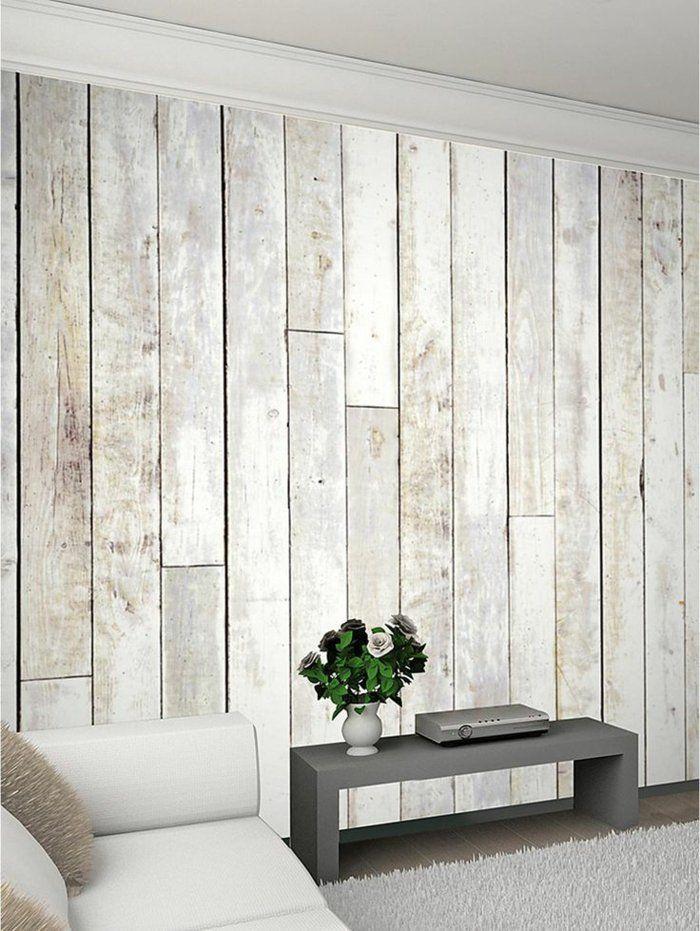Wandpaneele Holz Wohnzimmer Rustikaler Look