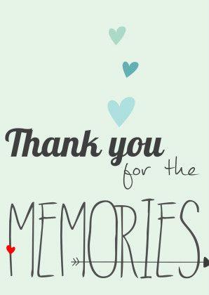 Thank you for the memories - Liefde kaarten - Kaartje2go
