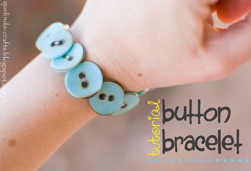 DIY Button Bracelet: Diy Ideas, Bracelet Diy Gifts, Diy Crafts, Crafts Buttons, Button Bracelets, Ideas Diy, Craft Ideas