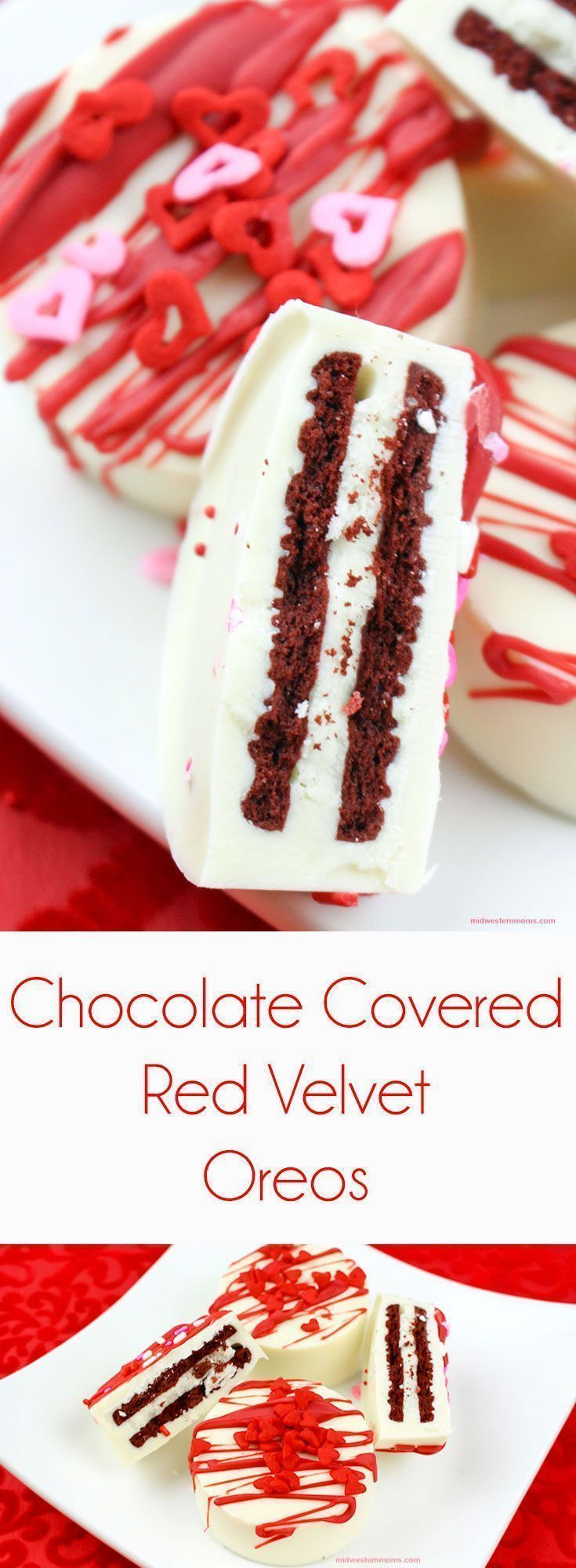 Simple and delicious chocolate covered red velvet Oreos