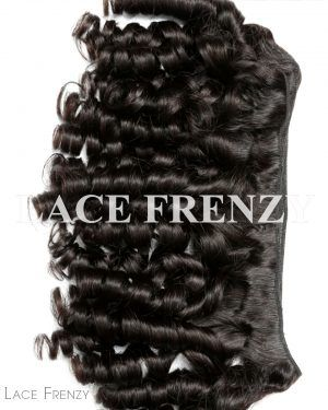 Bouncy Curls - Grade 10a Virgin Human Hair -200G Machine Weft Bundle