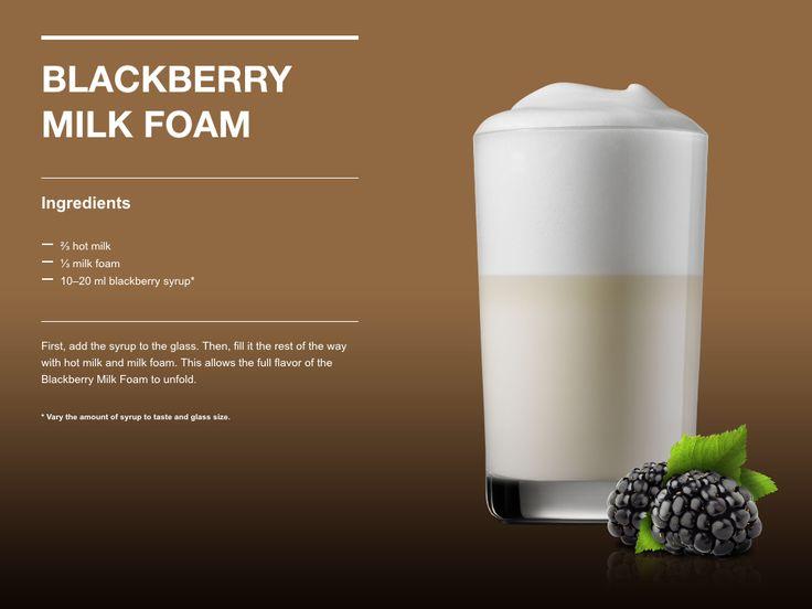 Blackberry Milk Foam